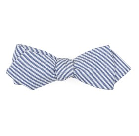 BLUE Seersucker bow ties