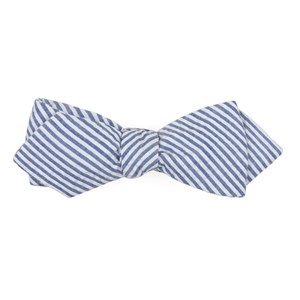 seersucker blue bow ties