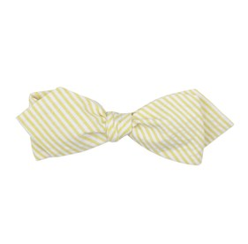 Yellow Seersucker bow ties