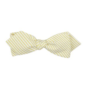 seersucker yellow bow ties