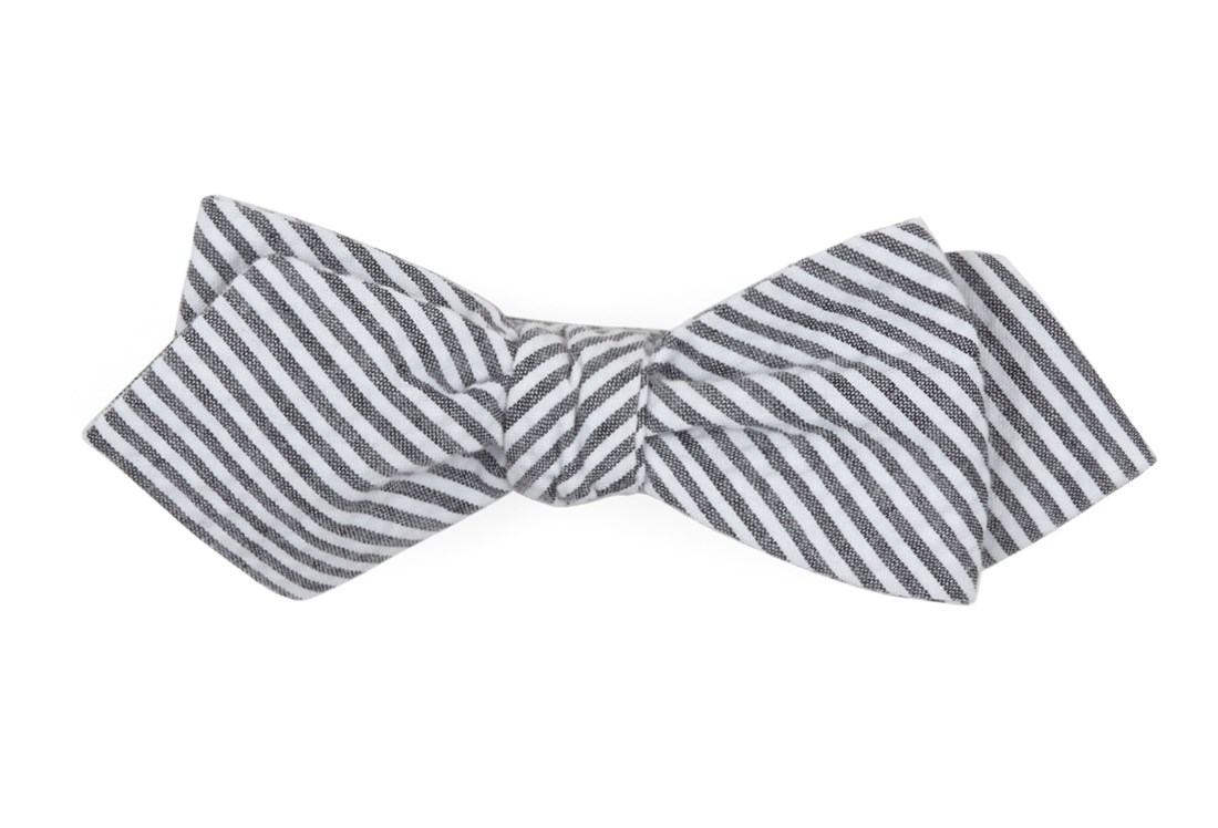 a176234bc716 ... Grey Seersucker Bow Tie - Grey Seersucker Bow Tie primary image