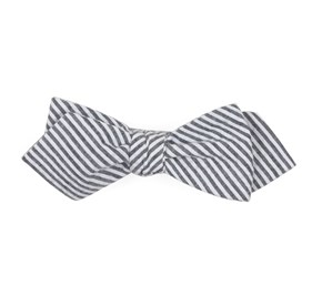 Grey Seersucker bow ties