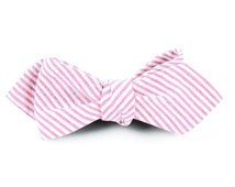 Bow Ties - Seersucker - Baby Pink