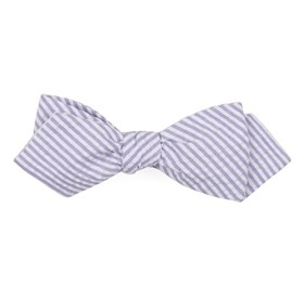 Soft Lavender Seersucker bow ties