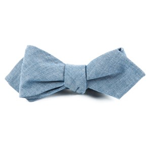 classic chambray warm blue bow ties