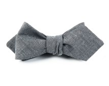 Bow Ties - Classic Chambray - Soft Grey