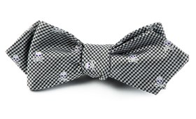 Bow Ties - SKULL TOOTH - BLACK