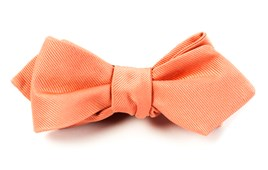 BOW TIES - GROSGRAIN SOLID - SPRING CORAL