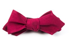 BOW TIES - GROSGRAIN SOLID - CRANBERRY
