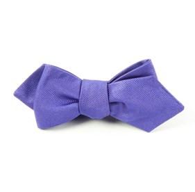 Violet Grosgrain Solid bow ties