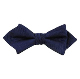 Navy Grosgrain Solid bow ties