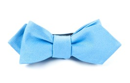 BOW TIES - GROSGRAIN SOLID - CAROLINA BLUE