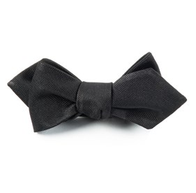 Black Grosgrain Solid bow ties