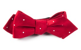 Bow Ties - SATIN DOT - RED