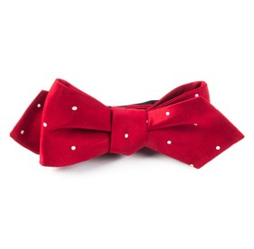 Red Satin Dot bow ties