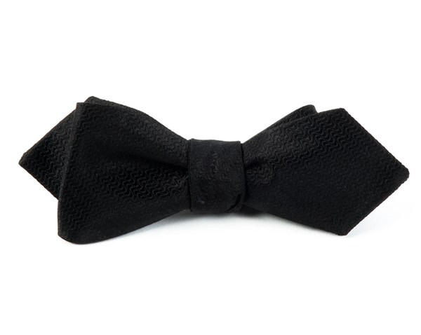 Static Solid Black Bow Tie