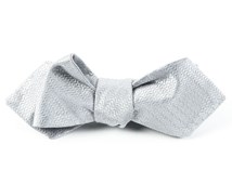 BOW TIES - STATIC SOLID - SILVER