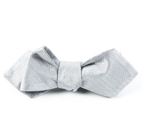 Silver Static Solid bow ties