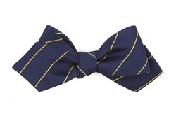 Bow Ties - Pencil Pinstripe - Navy