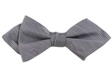 BOW TIES - FOUNTAIN SOLID - SILVER