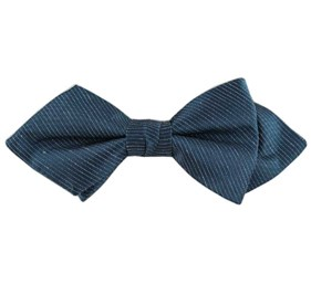 Navy Fountain Solid bow ties