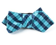 Bow Ties - PROFILE PLAID - TURQUOISE