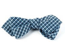 Bow Ties - TEXTURED CHECKS - LIGHT BLUE