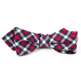 Navy Washington Plaid bow ties