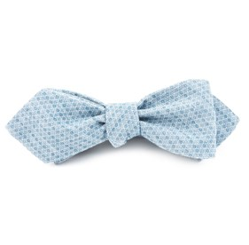 Cotton Allotrope Matte Serene Blue Bow Ties