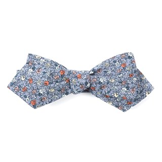 Floral Buzz Grey Bow Tie