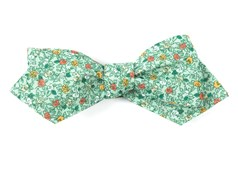 Bow Ties - Floral Buzz - Moss Green