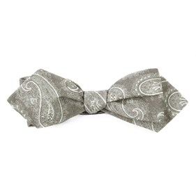 Olive Planetary Paisley bow ties