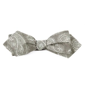 planetary paisley olive bow ties