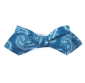 Royal Blue Planetary Paisley bow ties