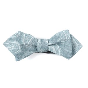 planetary paisley silver bow ties