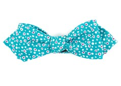 Bow Ties - Atomic Dots - Teal