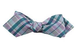 Bow Ties - Ultraviolet Plaid - Pool Blue