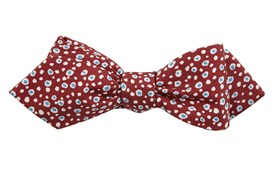 Bow Ties - CELL DOTS - BURNT BURGUNDY
