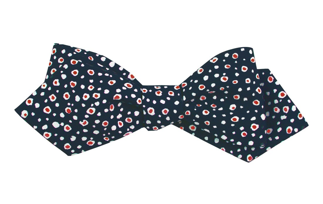 History of 1920s Mens Ties, Neckties, Bowties Cell Dot Bow Tie $19.00 AT vintagedancer.com