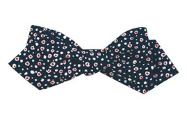 Bow Ties - CELL DOTS - NAVY