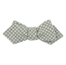 Hanover Houndstooth Hunter Green Bow Ties