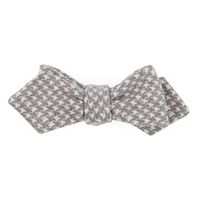 Eggplant Hanover Houndstooth bow ties