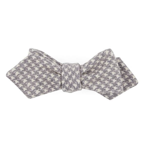 Eggplant Hanover Houndstooth Bow Tie