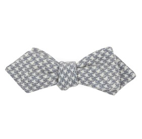 Navy Hanover Houndstooth bow ties