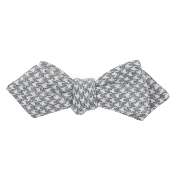 Navy Hanover Houndstooth Bow Tie