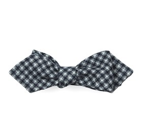 Brookline Street Houndstooth Black Bow Ties