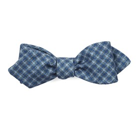 Brookline Street Houndstooth Classic Blue Bow Ties