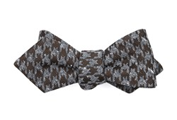 Bow Ties - Houndstooth Thrill - Chocolate Brown