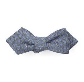 Slate Blue Houndstooth Thrill bow ties