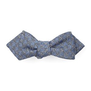 houndstooth thrill slate blue bow ties